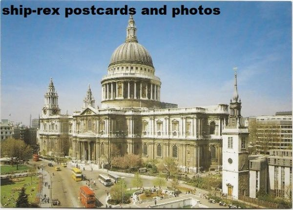 St Paul's Cathedral, London, postcard (d)